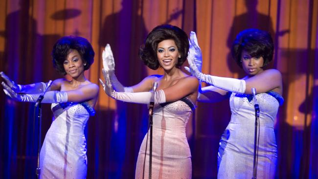 Anika Noni Rose (at left) with Beyonce Knowles and Jennifer Hudson in a scene from 2006 film 'Dreamgirls'.