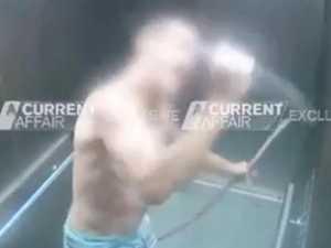 WATCH: Chilling moment knifeman runs amok in lift