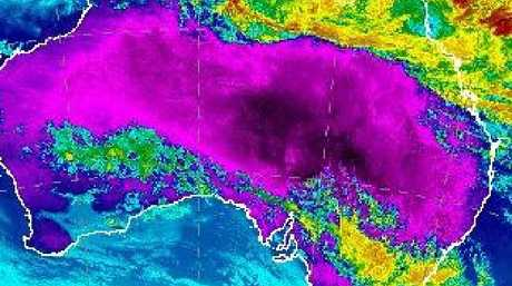 Things are looking a little hot for the eastern states this Australia Day. Picture: Bureau of Meteorology