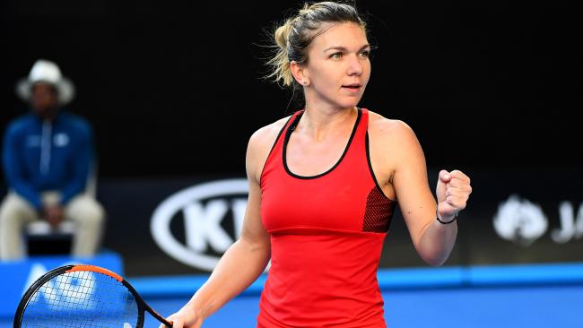 Simona Halep was clinical in her disposal of Naomi Osaka. Picture: Getty Images