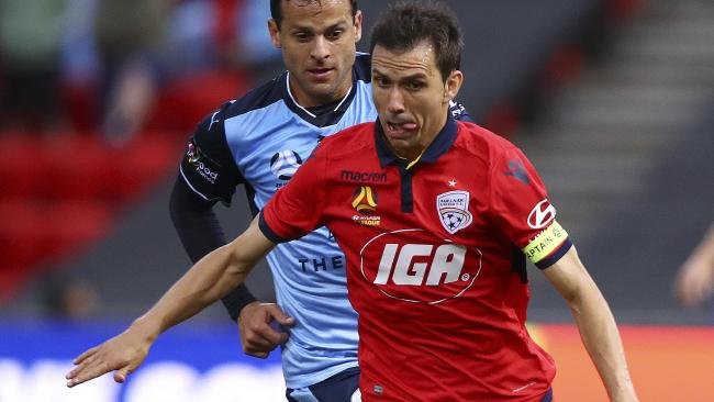 Adelaide United captain Isaias says the Reds will learn from their 5-0 drubbing against Melbourne City. Picture: Sarah Reed