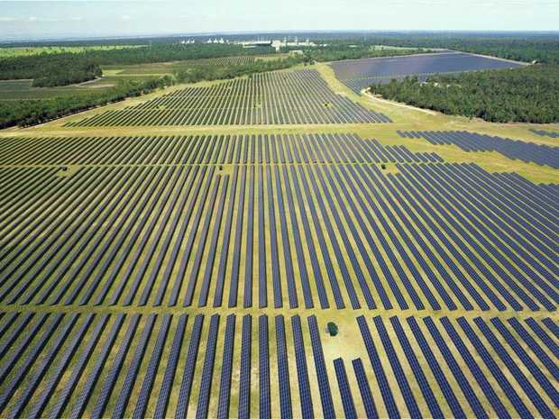 Artist's impression of the Darling Downs Solar Farm, which Origin sold to APA group this month.