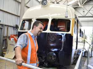Restored 1939 rail engine opens to public on Australia Day