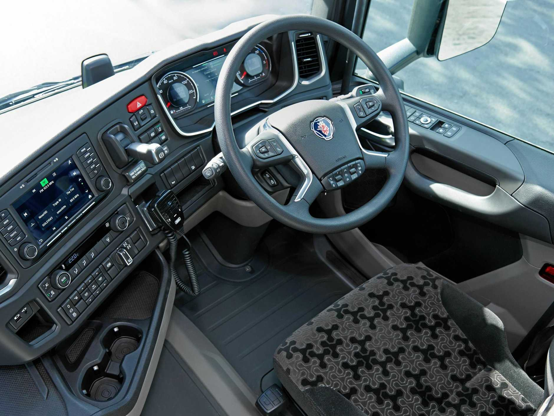 The cockpit of the new-generation Scania offers more improved driver ergonomics over what was a pretty slick cab.