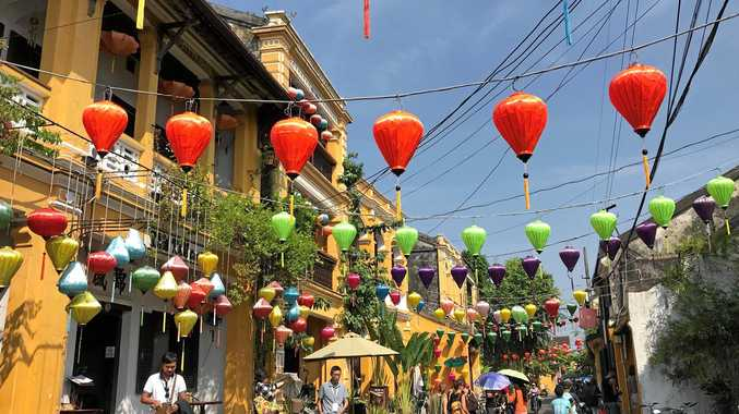 The gorgeous streets of Hoi An's ancient town are decorated with colourful lanterns.