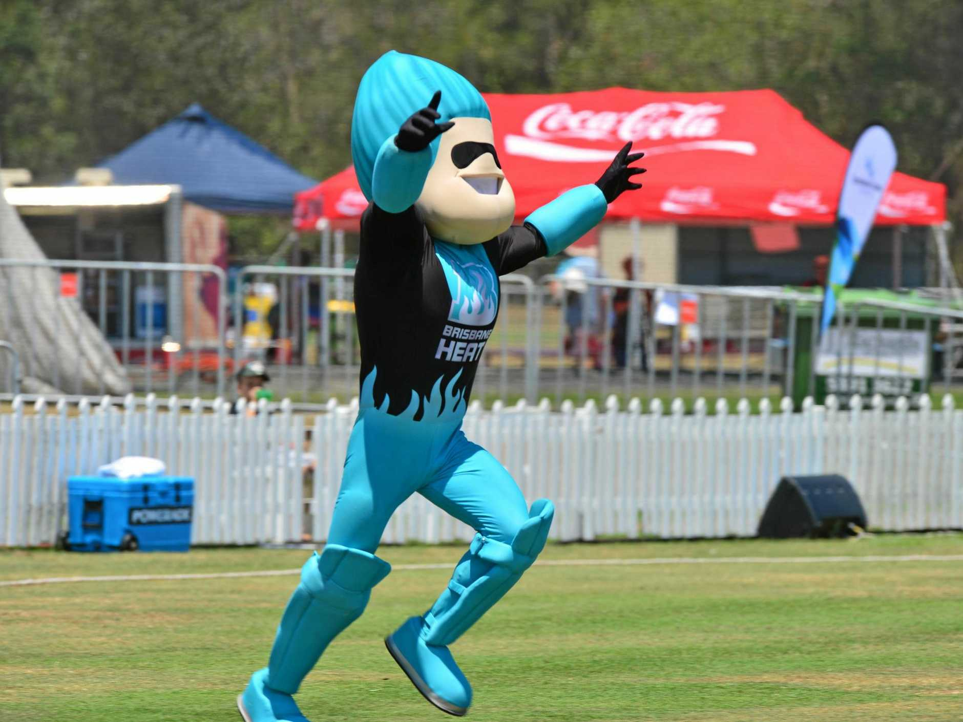 Brisbane Heat mascot Heater will make a guest appearance at the charity match in Rockhampton on Thursday.