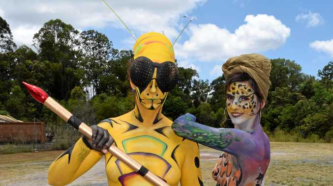 GO WILD: Organisers offered a taste of the upcoming Australian Body Art Festival to be held in April at the 'wild things' theme launch on the weekend.