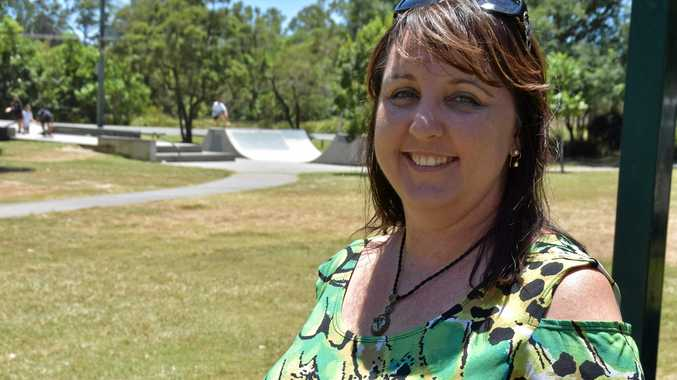 Cooroy Chamber president Danielle Taylor at Apex Park.
