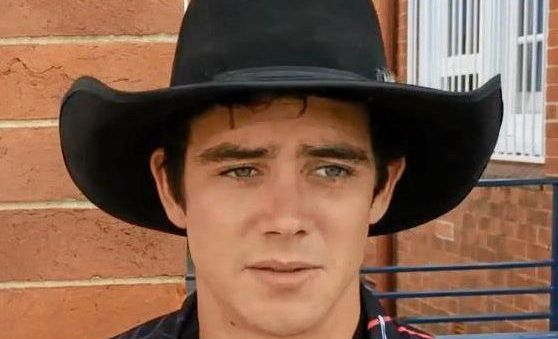 Tully cowboy Sam O'Connor broke his back in the New Year's Eve PBR at the Great Western Hotel.
