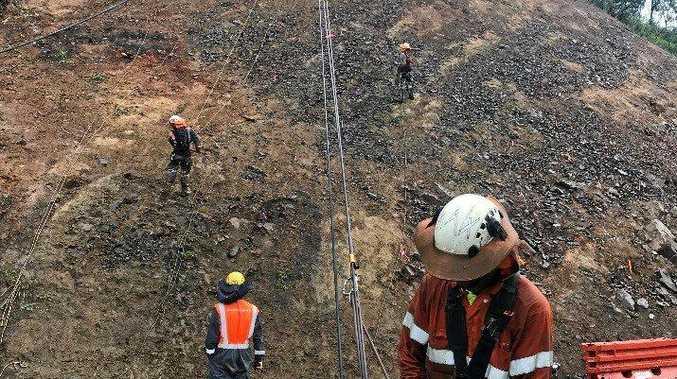 Works to restore Sarina Range are progressing.