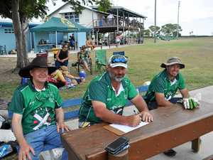 TOP SCORERS: The scorekeepers from the Kelsey Creek Dumpchooks stayed busy keeping on top of all the action. Pictured are Aaron Reegan, Shane Knight, Warren Watts.JPG