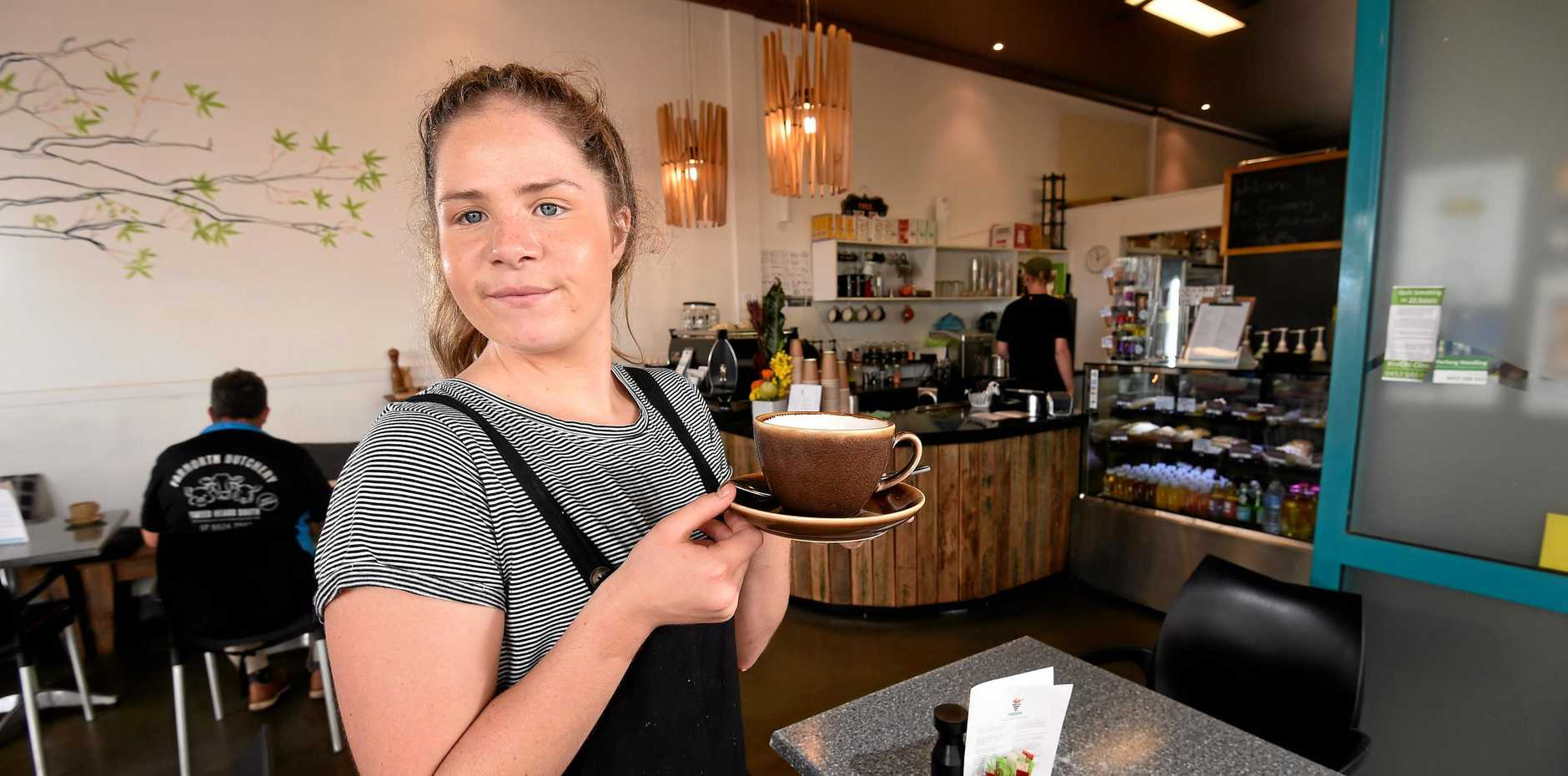 Alstonville girl Jakirra Graham bought her own cafe and is the new owner and manager of The Crossing in Alstonville, formerly knows as Savannah Coffee Lounge.
