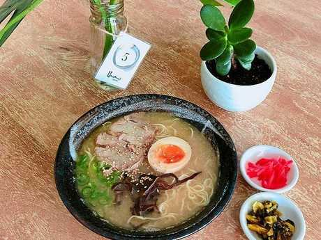 The Tonkotsu Ramen is the basic dish for newcomers.