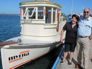 90-year-old ferry restored from 'firewood'