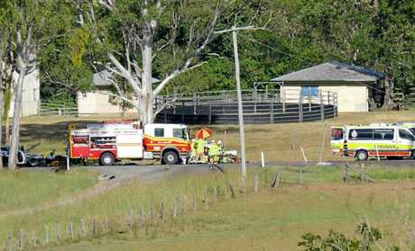 Scenes from the crash at Long Flat.
