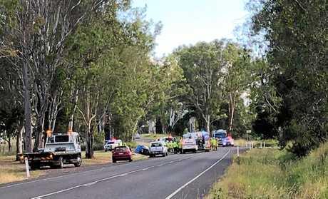 Scene of the crash at Long Flat.