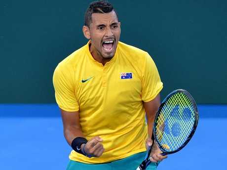 Nick Kyrgios loves his time in green and gold.