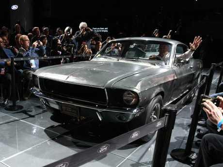 The original Ford Mustang Bullitt that US actor Steve McQueen used in the 1968 thriller film Bullitt. Picture: AFP