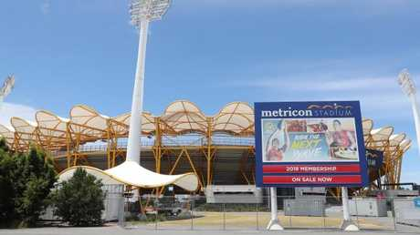 Metricon Stadium ... 10 weeks before the Games. Photo: Richard Gosling