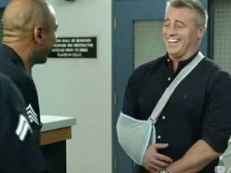 Matt LeBlanc's Joey is a movie star in the new trailer. Picture: YouTube