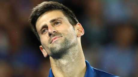 Novak Djokovic found himself beaten at his own game.