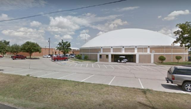 Italy High School, Texas, where the shooting took place today. Picture: Supplied