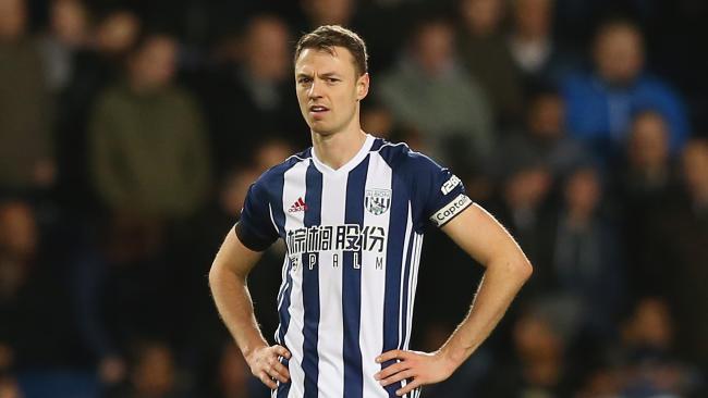 West Brom captain Jonny Evans.