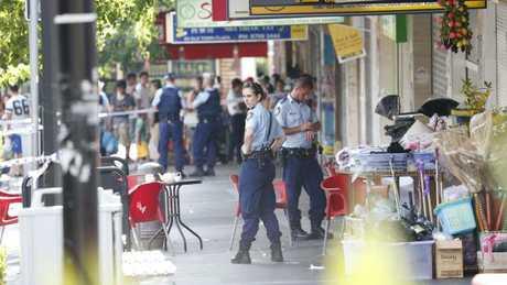 Shooting at Bankstown Plaza. Pictures: David Swift.