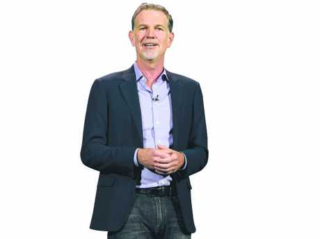 Netflix CEO Reed Hastings delivers a keynote address at CES in 2016. Picture: Ethan Miller