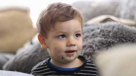 Family members describe Caleb Paino, now two, as a happy child. Picture: OLIVIA PAINO