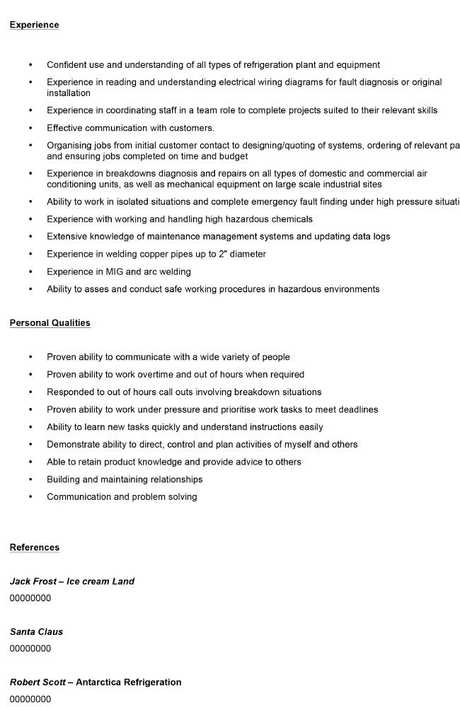 The optimal CV should run for two to three pages.
