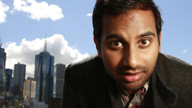 Parks and Recreation star Aziz Ansari in Melbourne. The comedian is the latest well known face to come under the spotlight following sexual misconduct claims.