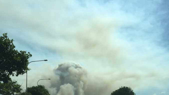 Meg Perkins sent in this shot of the Kings Forest fire, as seen from Casuarina Way.