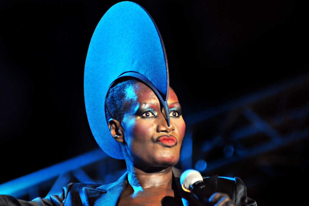 The 22nd annual Byron Bay Bluesfest. Jamaican American Grace Jones put on a dazzling show. Photo: John McCutcheon / Sunshine Coast Daily.