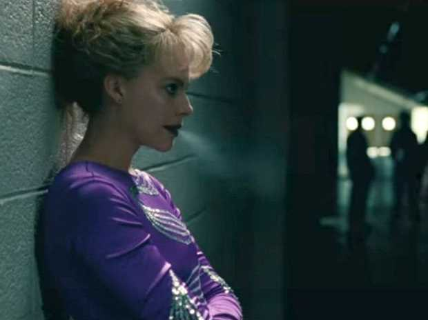 Margot Robbie in a scene from a trailer for the movie I, Tonya.