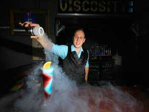 GONE: Kinsey Johnson from Viscosity is heading to Brisbane with his cocktail creations.