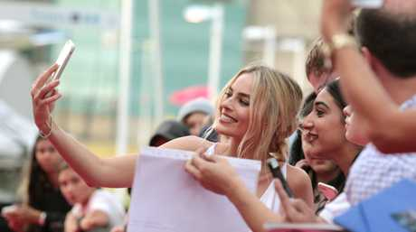 Australian actress Margot Robbie at the red carpet premiere for her new film I,Tonya at Fox Studios in Moore Park, Sydney.
