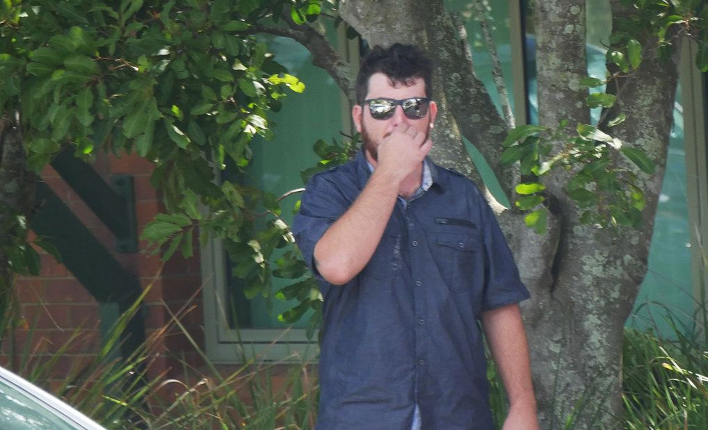 Michael Louis Courtnage, 27, of Burrum Heads, outside Hervey Bay Magistrates Court.