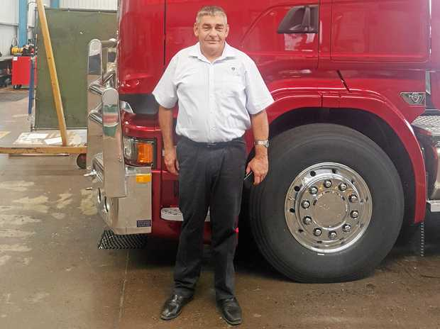 20 GREAT YEARS: Keith Quin celebrated his 20th anniversary with K&J Trucks in Coffs Harbour late last year.