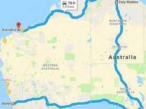 Western Australia's theoretical 76-hr detour