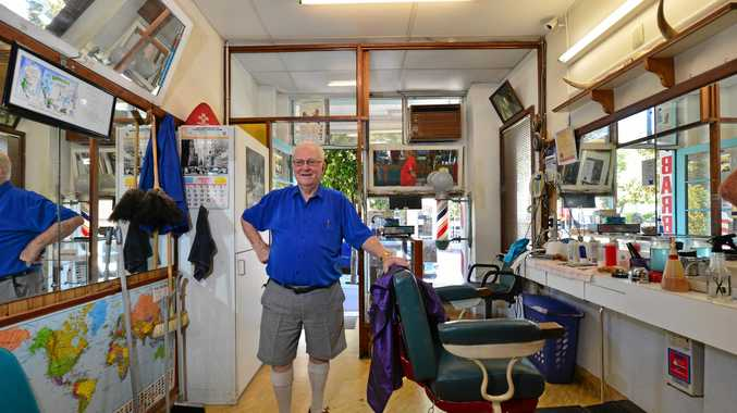 HANGING UP HIS CLIPPERS: Keith Lipke is retiring from Nambour Barber after 61 years.