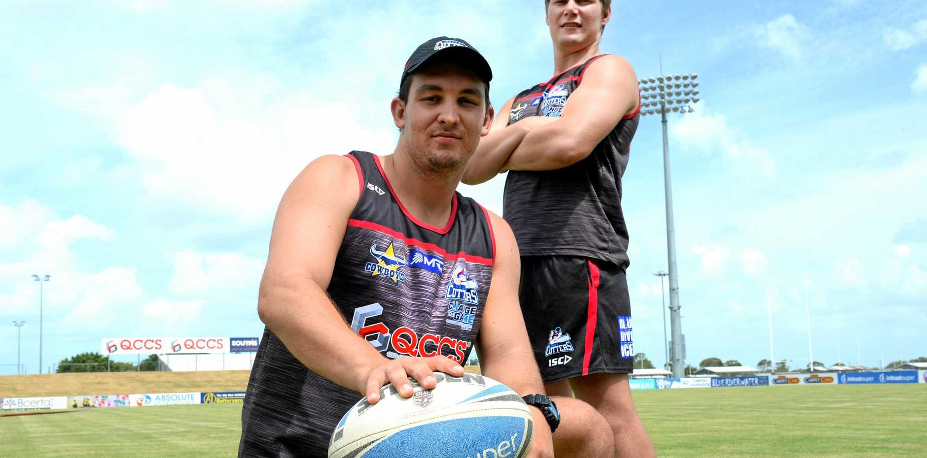 Mackay Cutters' Nick Brown and Darcy Cox are forming a formidable front-row partnership in 2018.