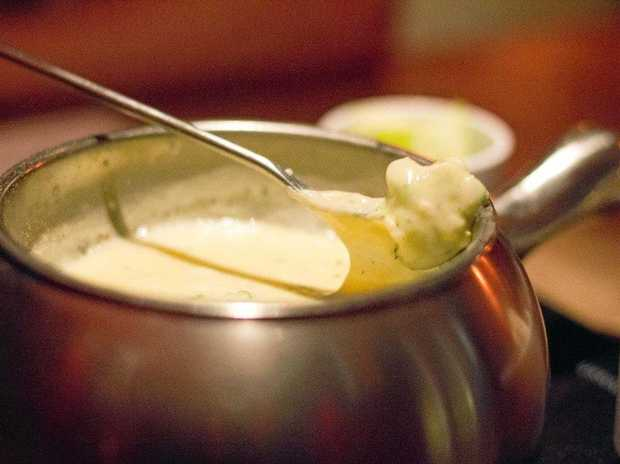 Brie and Thyme fondue.
