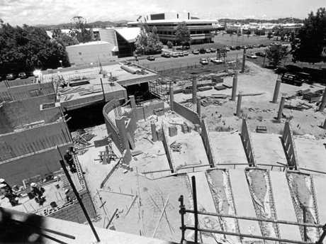 Construction of the Mackay Entertainment Centre gets underway in 1987.