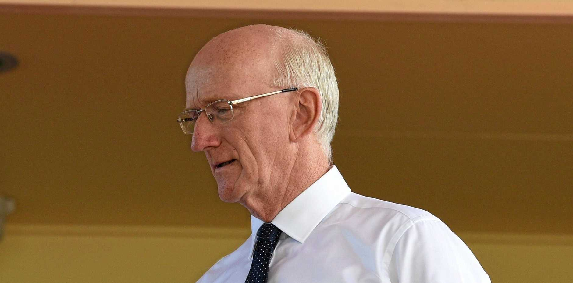 NOT AFRAID: Fraser Coast Regional Council mayor Chris Loft remains defiant after his first court appearance.