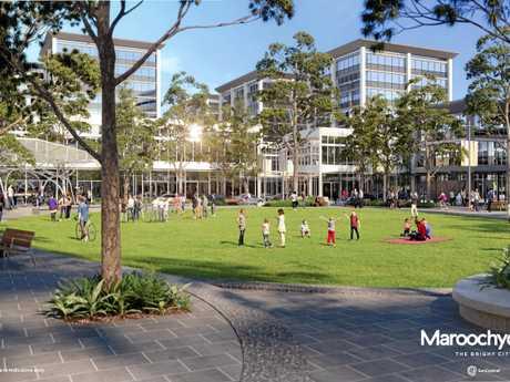 VISION: Artistic impression of the new urban square in the Maroochydore CBD.