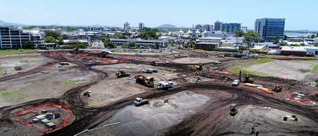 UPDATES: Work progresses on the first stage of the new Maroochydore city centre.