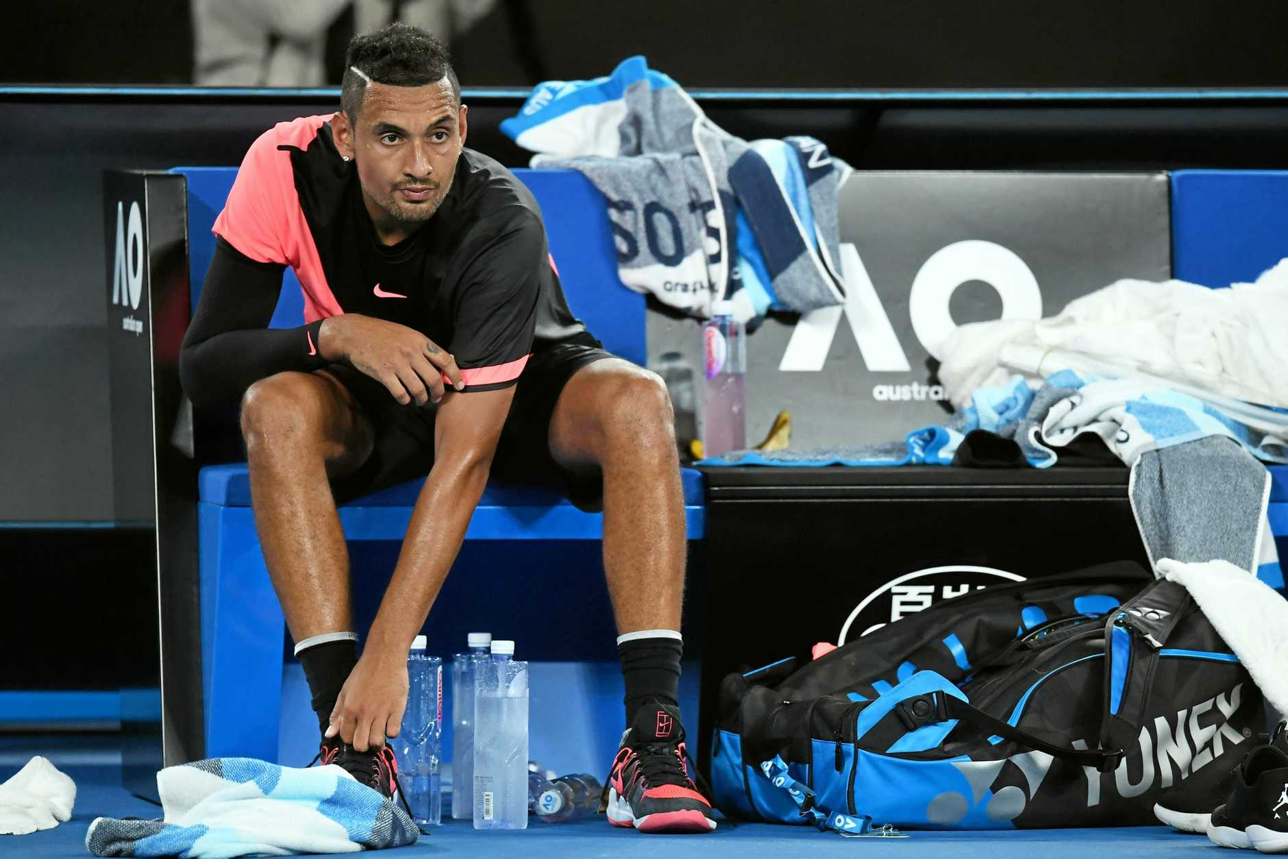 Nick Kyrgios impressed at the 2018 Australian Open.