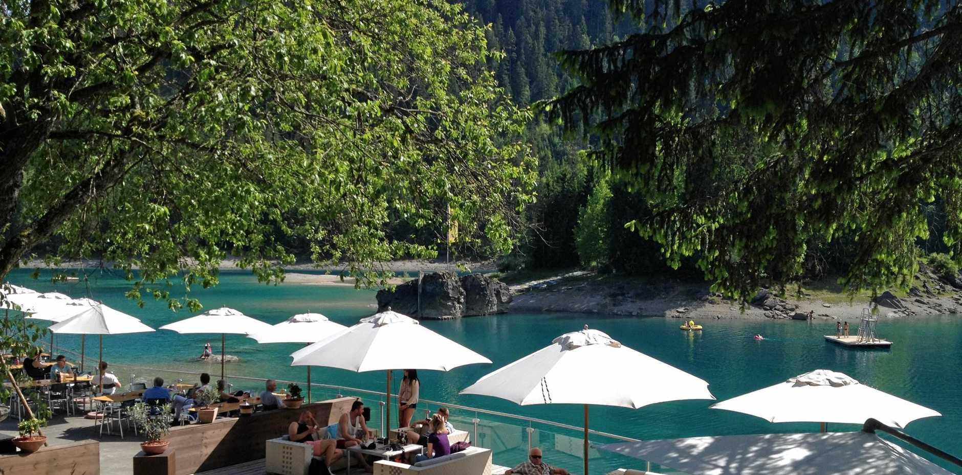 The stunning Caumasee Restaurant in Switzerland.