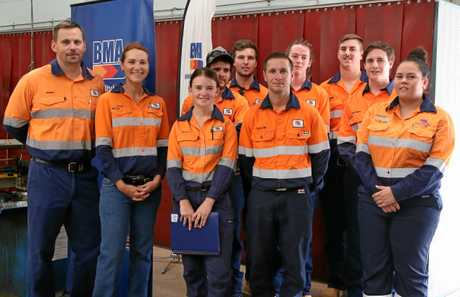 These new BMA apprentices will soon be training at Blackwater. There are a total of 41 apprentices in the 2018 intake who will be at mines across the Bowen Basin.